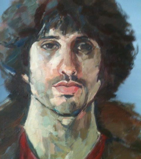 "Daryl (detail) 2016. Oil on canvas. 24x20"", 61x51cm"